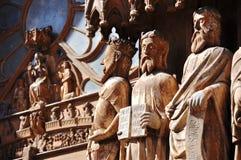 Statues at Tarazona Cathedral Stock Photos