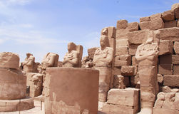 Statues in the temple (Egypt) Stock Photo