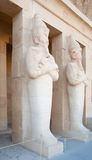 Statues in Temple of Hatshepsut Royalty Free Stock Image