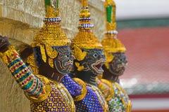 Statues thaïes Photographie stock libre de droits