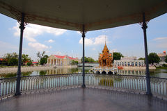 Statues and Thailand pavilion Royalty Free Stock Photo