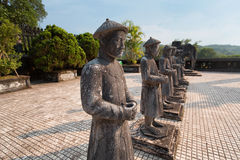 Statues at the tomb of Emperor Khai Dinh, Hue, Vietnam Stock Images