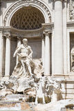 Statues at Trevi Fountain Stock Photo
