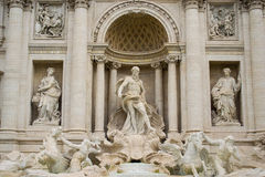 Statues of Trevi Fountain, Rome. Particular of statues of famaous Trevi Fountain in Rome, Italy royalty free stock image