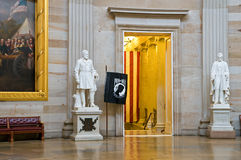 Statues in US Capitol Rotunda. A view of two famous statues, Abraham Lincoln and General Ulysses Grant on display in the Rotunda of the US Capitol Building Royalty Free Stock Photo