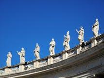 statues vatican Images libres de droits