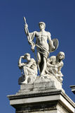 Statues on the Victor Emmanuel Monument, Rome Royalty Free Stock Photography