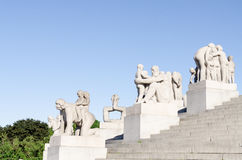 Statues in Vigeland park in Oslo details Royalty Free Stock Photography