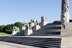 Statues in Vigeland park in Oslo horizontal Stock Image