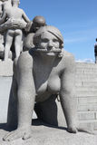 Statues in Vigeland park in Oslo Royalty Free Stock Photo