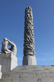 Statues in Vigeland park in Oslo Royalty Free Stock Photos