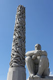 Statues in Vigeland park in Oslo Royalty Free Stock Images