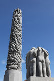 Statues in Vigeland park in Oslo. Norway Stock Photo