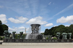 Statues in Vigeland park in Oslo. Norway Royalty Free Stock Images