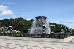 Statues in Vigeland park in Oslo Stock Images