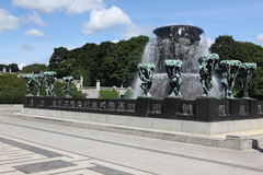 Statues in Vigeland park in Oslo Royalty Free Stock Image