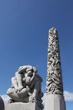 Statues in Vigeland park, Oslo, Norway. Statues in Vigeland park in Oslo, Norway Royalty Free Stock Photo
