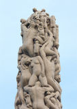 Statues in Vigeland park. Oslo, Norway Royalty Free Stock Photos