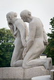 Statues in Vigeland park. Oslo, Norway Royalty Free Stock Photography