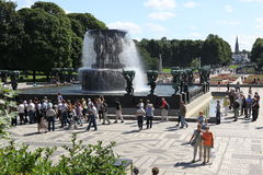 Statues in Vigeland park in Oslo, Norway Stock Photo