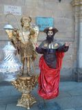 Statues vivantes images stock