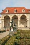 Statues in Wallenstein Garden in Prague, Czech republic. PRAGUE, CZECH REPUBLIC - APRIL 16, 2010: Statues in Wallenstein Garden in Prague, Czech republic Stock Photo