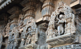 Statues on the walls of Hindu temple Royalty Free Stock Image