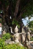 Statues at the Wat Pho temple in Bangkok Stock Image