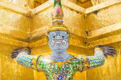 Statues in Wat Phra Kaeo, Bangkok. Statues in the Wat Phra Kaeo in Bangkok, Thailand Stock Image