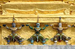 Statues at Wat Phra-Kaew Royalty Free Stock Photo