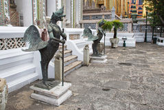 Statues in wat phra kaew, Thailand Stock Photography