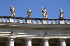 Statues over St Peters Square Stock Photography