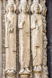 Statues from west facade of Chartres cathedral, France Stock Images