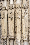 Statues from west facade of Chartres cathedral, France Royalty Free Stock Images