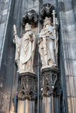 Statues on the Western Facade of the Cologne Cathedral. UNESCO Wold Heritage Site. Royalty Free Stock Photography