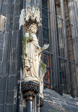 Statues on the Western Facade of the Cologne Cathedral. UNESCO Wold Heritage Site. Royalty Free Stock Images