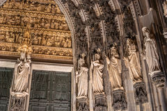 Statues on the Western Facade of the Cologne Cathedral. UNESCO Wold Heritage Site. Stock Images