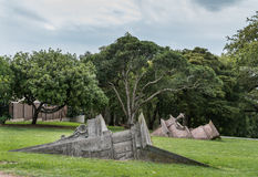 Statues at Western Park in Auckland. Stock Photos
