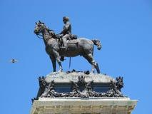 Statuesonderkommando des Königs Alfonso XII Retiro Stockbild