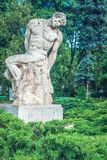 Statuet弗雷德里克施托克和Dimitrie Paciurea 免版税库存照片