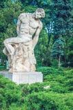 Statuet av Frederic Storck och Dimitrie Paciurea Royaltyfria Foton