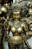 Statuetta d'ottone, Nuova Delhi, India Fotografie Stock