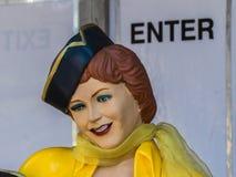 Statuetta del luppolo dell'automobile della cena da un'esposizione alla fiera della contea della LA in Pomona Immagini Stock