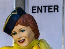 Statuetta del luppolo dell'automobile della cena di Route 66 da un'esposizione alla fiera della contea della LA in Pomona Fotografia Stock Libera da Diritti