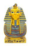 Statuetta del pharaon egiziano su un fondo bianco puro immagine stock