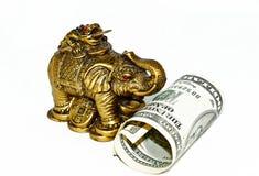 Statuetta dell'elefante bronzeo Fotografie Stock Libere da Diritti