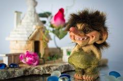Statuetta di un troll norvegese Fotografie Stock Libere da Diritti