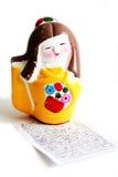 Statuetta verniciata del geisha Fotografia Stock Libera da Diritti
