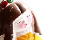 Statuetta verniciata del geisha Fotografie Stock Libere da Diritti