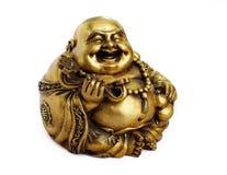 Statuette av Buddha på vitbakgrunden Royaltyfri Bild